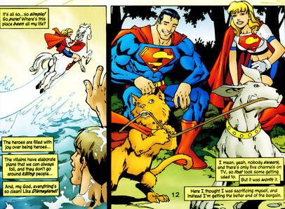 Supergirl superman streaky krypto