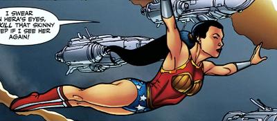 Wonder Girl gliding