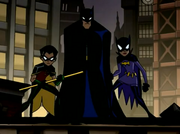 Batman, Robin and Batgirl