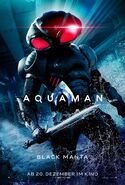 Aquaman Black Manta deutsches Charakterposter
