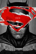 BvS Batman Superman-Logo Poster