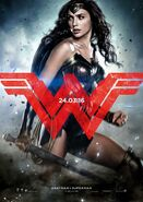 Batman v Superman - Dawn of Justice deutsches Charakterposter Wonder Woman