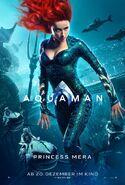 Aquaman Mera deutsches Charakterposter