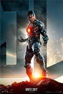 Justice League deutsches Cyborg Charakterposter