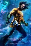 Aquaman Arthur Curry deutsches Charakterposter