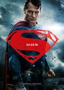 Batman v Superman - Dawn of Justice deutsches Charakterposter Superman