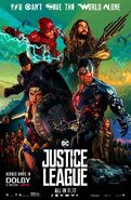 Justice League Dolby Cinema Poster