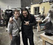 Jason Momoa & Zack Snyder am Set von JL