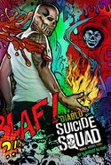Suicide Squad deutsches Charakterposter Diablo