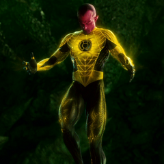 Sinestro's uniform when wearing the yellow ring.
