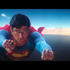Superman flying during the missile-chase sequence, in <i><a href=