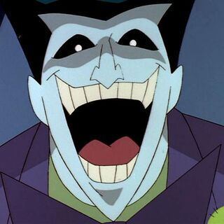 Joker laughs as his plane's about to crash.