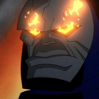 Darkseid notices Granny's failure in capturing Supergirl.