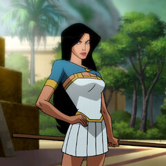 Diana in Themyscira.