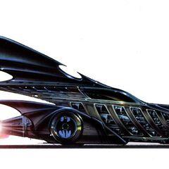 Concept art for the Batmobile in <i>Batman Forever</i>.