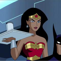 Wonder Woman and Batman.
