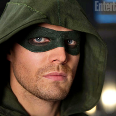 Arrow with the mask Barry gave him.