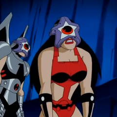 Barda mind controlled by Starro.
