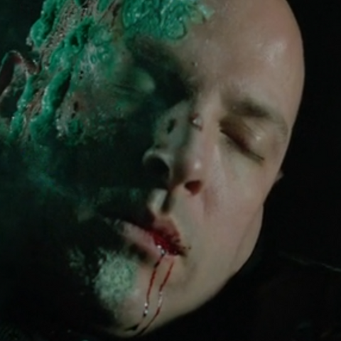 Cyrus is seemingly killed after he is knocked into a mix of chemicals by The Arrow.
