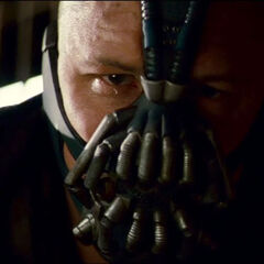 Bane talking to Bruce Wanye.