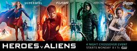 Heroes v Aliens poster