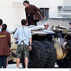 Marion Cotillard jumps out of the tumbler.