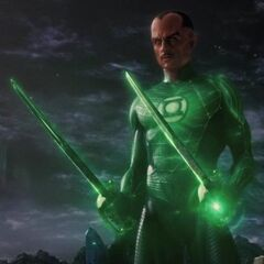 Sinestro creating two swords at once with his Power Ring.