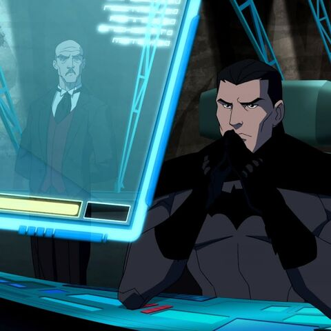 Bruce Wayne in the Batcave in <i>Young Justice</i>.