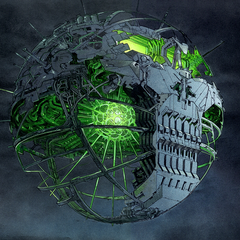 Brainiac's skull ship by <a href=