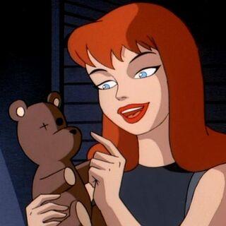 Barbara talks about her teddy bear.