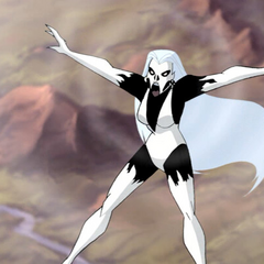 Silver Banshee using her deadly wail.