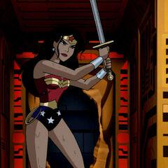 Wonder Woman frees Shayera.