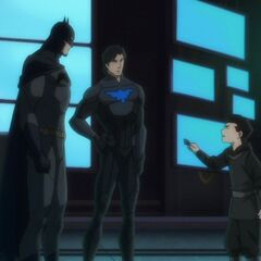 Batman, Nightwing and Damian.