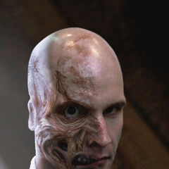 Unused concept art for Two-Face in <i>The Dark Knight</i>.