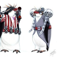 Concept art for Cobblepot's armed penguins.