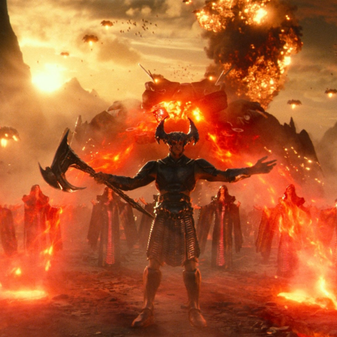 Steppenwolf leading the first invasion.
