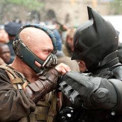 Bane and Batman.