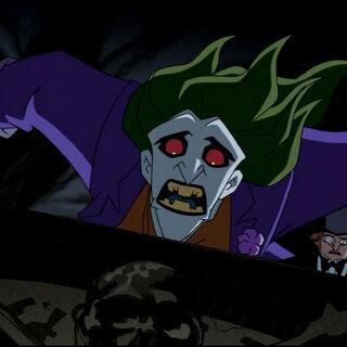 Joker runs from Dracula.