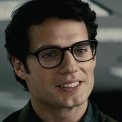 Clark Kent wearing glasses.