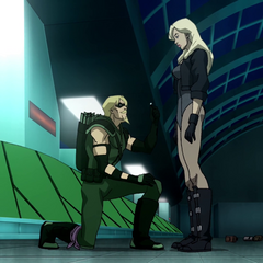 Green Arrow proposes to Black Canary