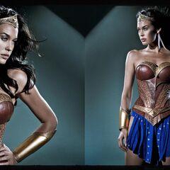Megan Gale in her Wonder Woman costume