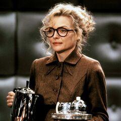 Michelle Pfeiffer as Selina Kyle.