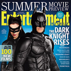 Batman & Catwoman Entertainment Weekly cover art.