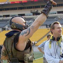 Tom Hardy as Bane.