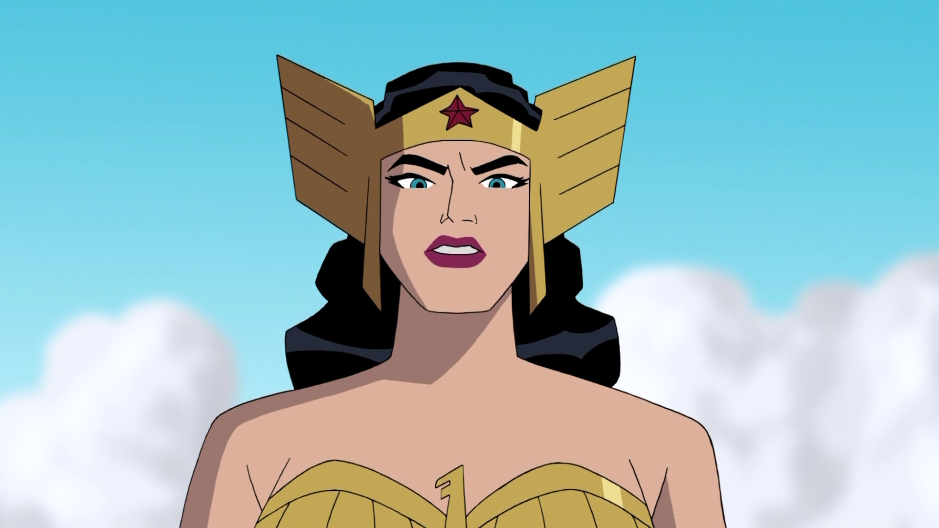 Diana of themyscira justice league the new frontier - Superman wonder woman cartoon ...