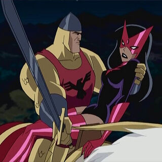 Star Sapphire in the arms of her knight.