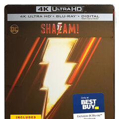 SHAZAM! Best Buy Exclusive 4K Blu Ray steelbook
