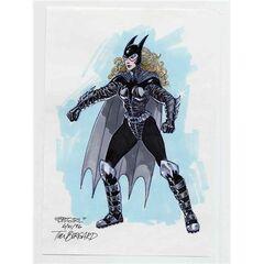 Concept art for Batgirl's costume.