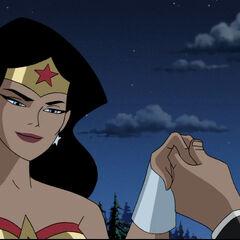 Wonder Woman meets Steve Trevor.