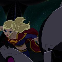 Supergirl in combat.